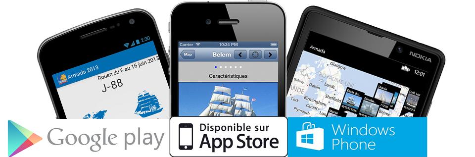 Application Armada 2013 pour téléphone Mobile
